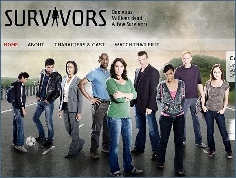 Screenshot of the BBC Survivors mini web site