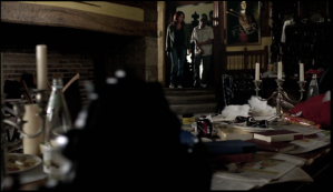 Peover Hall interior, Survivors S1, Ep 4