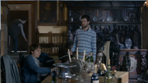 Peover Hall interior, Fresh Meat, S2 Ep 4